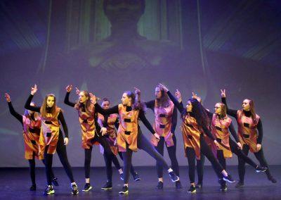 Cours de danse sur scène